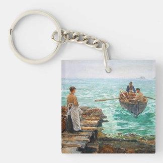 Cornwall 1895 Customisable Double-Sided Square Acrylic Key Ring