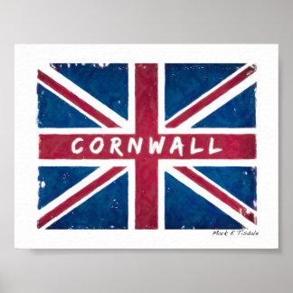 Cornwall - British Union Jack Flag - Mini Poster