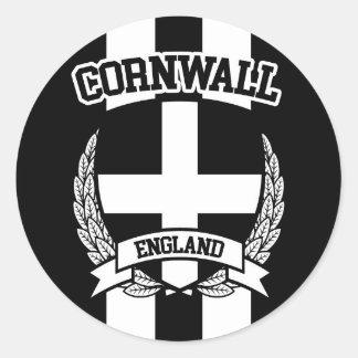Cornwall Classic Round Sticker