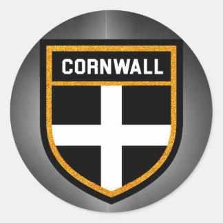 Cornwall Flag Classic Round Sticker