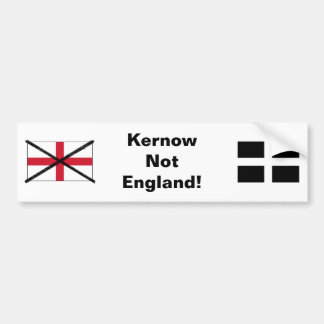 Cornwall not England bumper sticker