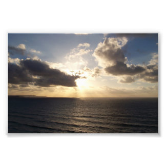 Cornwall Sunset Near Saint Agnes Poldark Country Art Photo