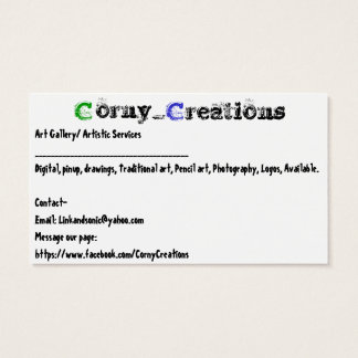 Corny_Creations Business Card