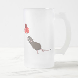 Corny in the Sky Frosted Glass Beer Mug