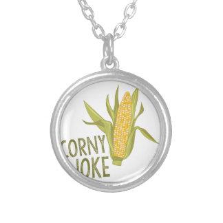 Corny Joke Silver Plated Necklace