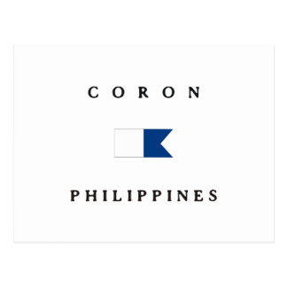 Coron Philippines Alpha Dive Flag Post Card