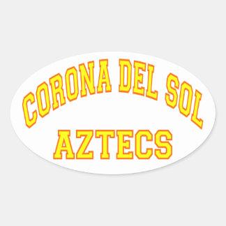 Corona del Sol Aztecs Oval Sticker