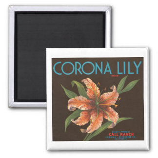 Corona Lily Brand Vintage Crate Label Fridge Magnets