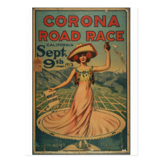 Corona Road Race - 1913 Postcard