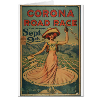Corona Road Race Advertisement Card
