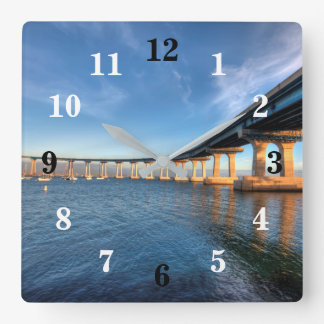 Coronado Bridge Numbered Wall Clock