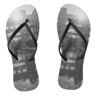 Coronado Sunburst Grayscale Thongs