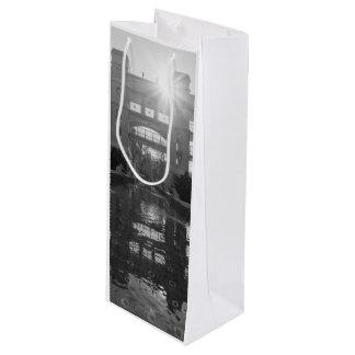 Coronado Sunburst Grayscale Wine Gift Bag