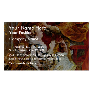 Coronation Of Maria De' Medici In St. Denis In Business Cards