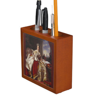 Coronation of Queen Victoria Painting Desk Organiser