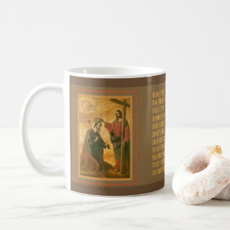 Coronation of St. Joseph by Jesus Memorare Coffee Mug