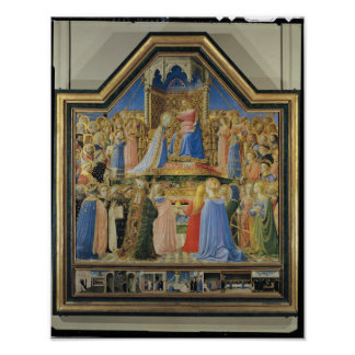 Coronation of the Virgin, c.1430-32 Poster