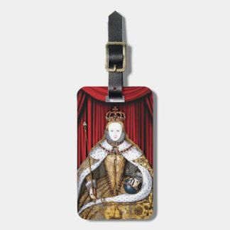 Coronation of Tudor Queen Elizabeth I Bag Tag