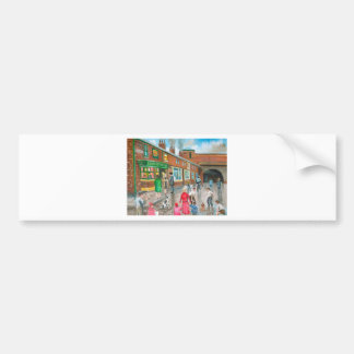 Coronation Street oil painting Bumper Stickers