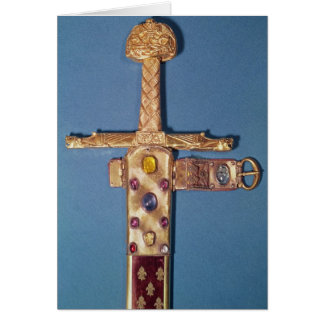 Coronation sword of the Kings of France Greeting Card