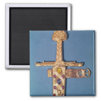 Coronation sword of the Kings of France Square Magnet