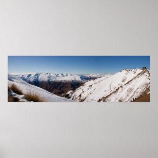 Coronet Peak Panorama Poster