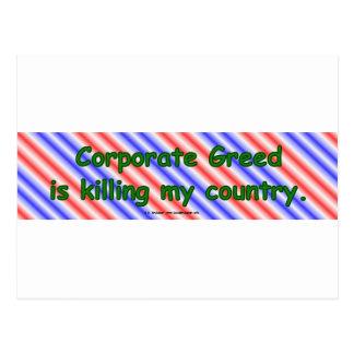CorpGreed Postcard
