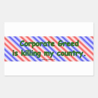 CorpGreed Rectangular Sticker