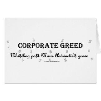 CorpGreedMarie Greeting Card