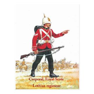 Corporal, Royal Scots, Lothian Regiment Postcard