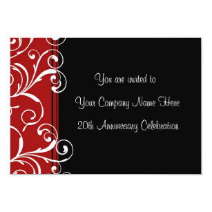 Company anniversary cards invitations zazzle corporate anniversary party invitations stopboris