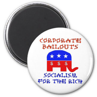 Corporate Bailouts Fridge Magnets