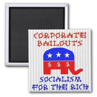 Corporate Bailouts Fridge Magnets