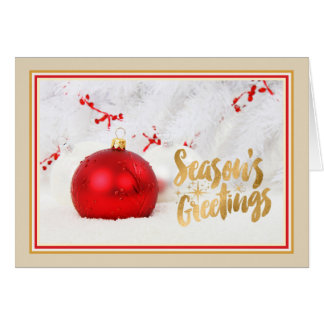 Corporate Business Christmas Card with Christmas T