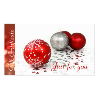 Corporate Business Holiday Gift Certificates Pack Of Standard Business Cards