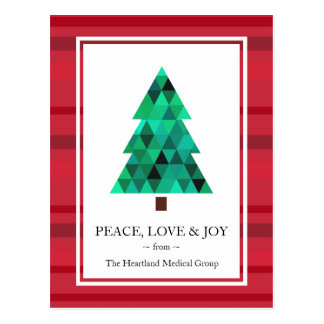 Corporate Business Mod Geometric Holiday Postcard