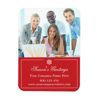 Corporate Business Photo Holiday Christmas Magnet