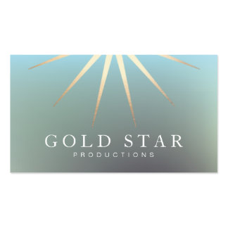 Corporate Executive Gold Star Logo Entertainment Pack Of Standard Business Cards