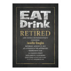 Corporate Gold Effect Funny Retirement Party Card