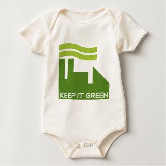 Corporate Green Recycle Baby Bodysuit