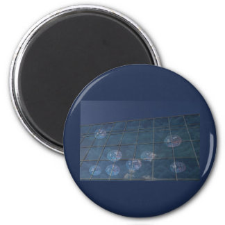 corporate holiday greetings 6 cm round magnet