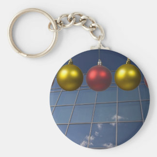 corporate holiday greetings basic round button key ring