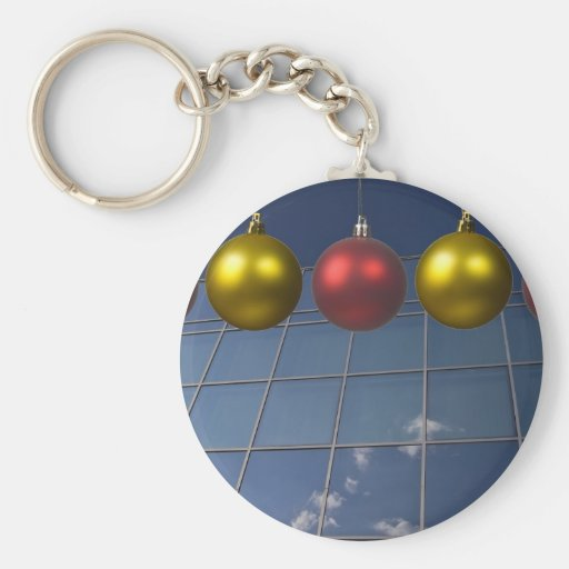 corporate holiday greetings key chain