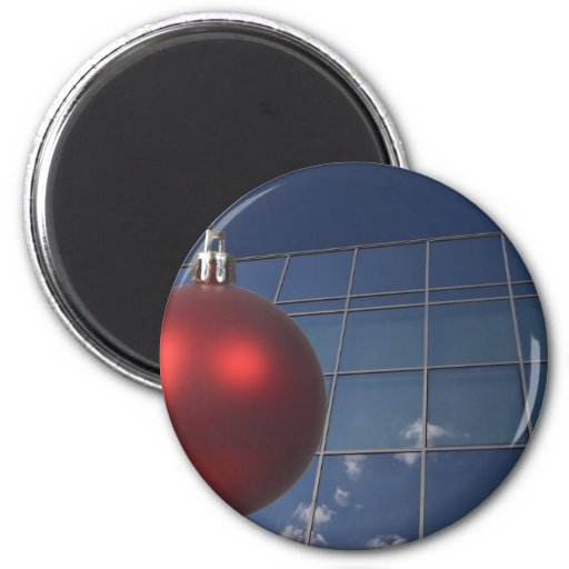 corporate holiday greetings fridge magnet