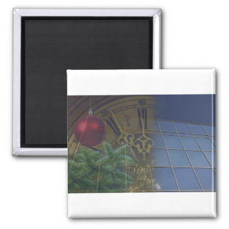corporate holiday greetings fridge magnet
