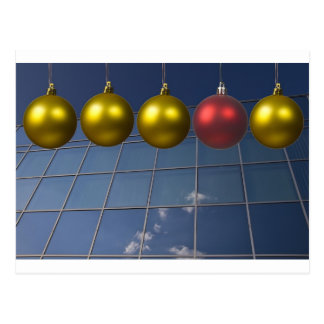 corporate holiday greetings postcard