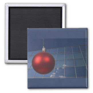 corporate holiday greetings square magnet