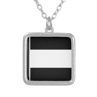 Corporate Logo Flag Silver Plated Necklace
