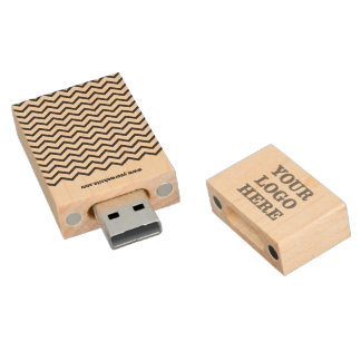 Corporate Logo Wood USB Flash Drive