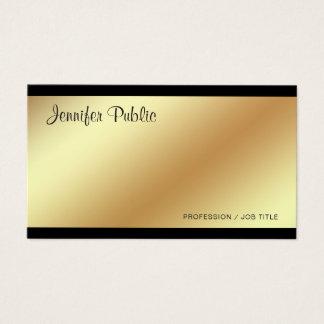 Corporate Modern Elegant Black and Gold Plain Business Card